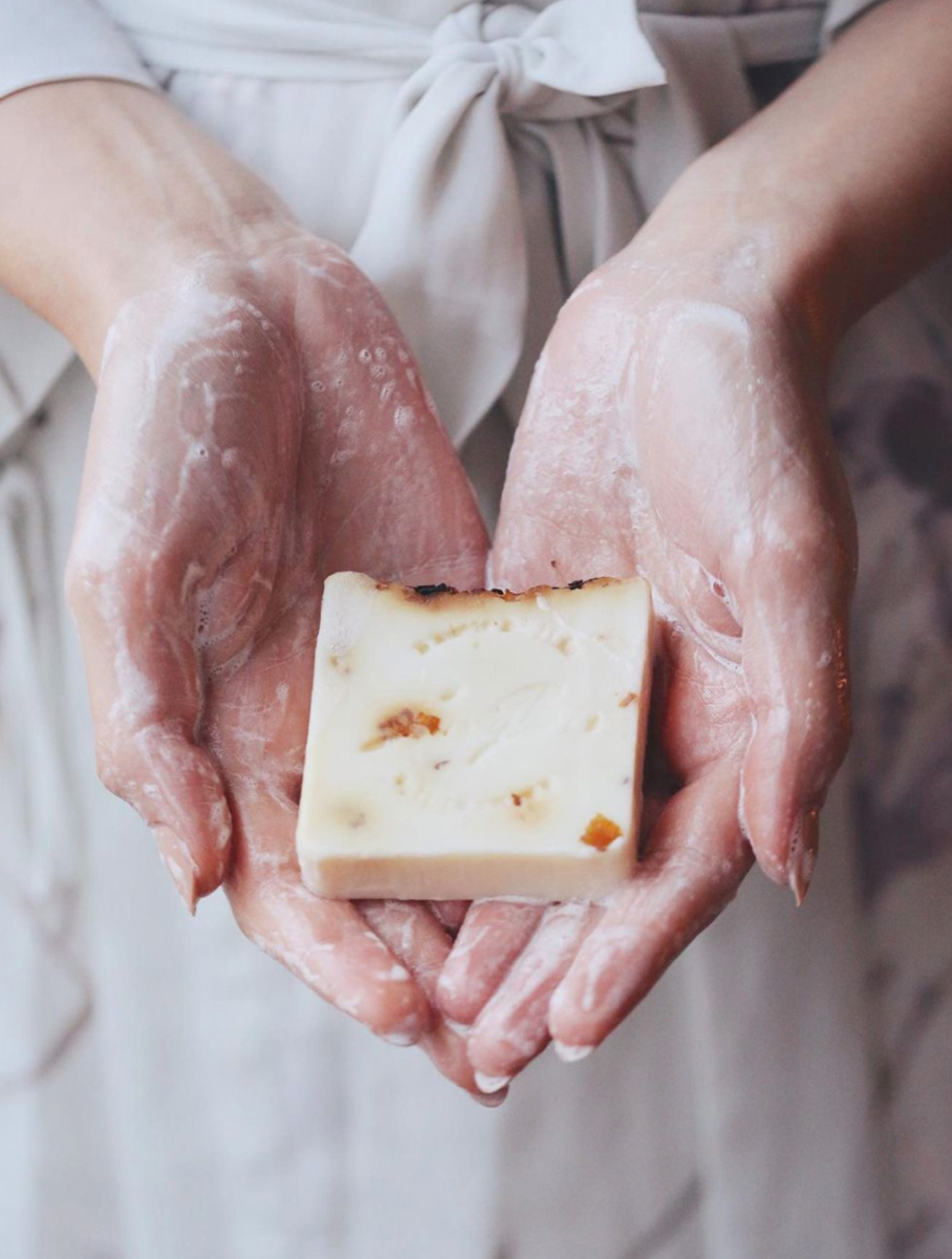 Doğal Gül Cilt Bakım Sabunu 100 gr - Thumbnail